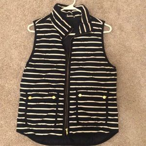 JCrew Navy Striped Vest